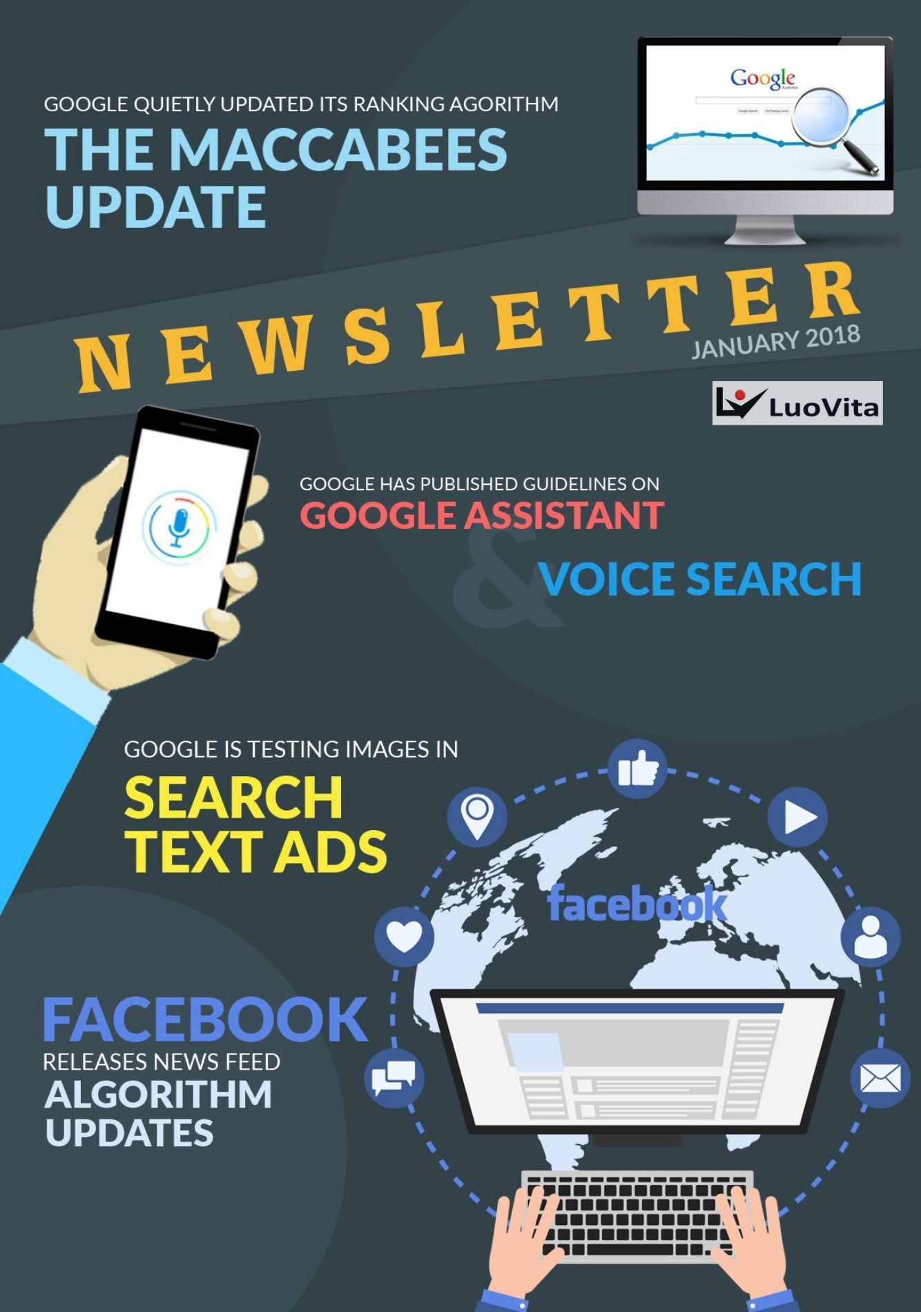Google Has Published Guidelines on Google Assistant – News January 2018, FACEBOOK RELEASES NEWS FEED ALGORITHM UPDATES, GOOGLE IS TESTING IMAGES IN SEARCH TEXT ADS, GOOGLE HAS PUBLISHED GUIDELINES ON GOOGLE ASSISTANT AND VOICE SEARCH, DECEMBER 2017 WAS PRETTY BUSY FOR GOOGLE — HERE'S WHY, GOOGLE QUIETLY UPDATED ITS RANKING ALGORITHM — THE MACCABEES UPDATE, how to get positive reviews for your business, how to make big money online, how to earn money online, check google rank, how to promote business using google, what is digital marketing, strategies to promote business online, tips to become succecssful entrepreneurs, best online marketing course, free online marketing course, free online marketing training, how to market my business in social media,tips to become successful entrepreneurs, pinterest account creation, social media marketing benefits, what is digital marketing, strategies to promote business online, google analytics, best marketing courses, online marketing articles, online marketing courses, online business idea, keyword research tool free, ow to start online marketing, social media marketing, facebook marketing, instagram marketing, what is smo, smo tools, social media campaign ideas, website traffic checker, facebook ads, instagram ads, auto likes free, how can i get facebook likes, how to increase facebook likes, how to promote in facebook