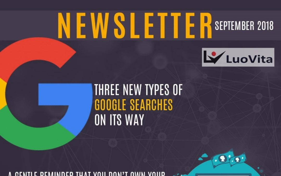 Three New Types of Google Searches On Its Way – News September 2018
