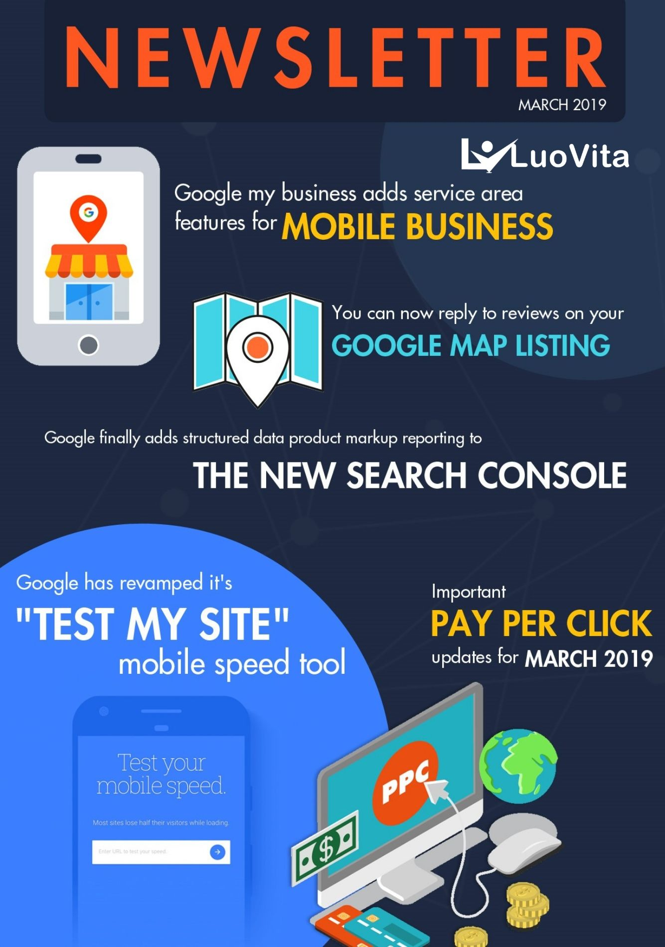 """Google Revamped """"Test My Site"""" Mobile Speed Tool – News March 2019, IMPORTANT PAY PER CLICK UPDATES FOR MARCH 2019, GOOGLE IS FINALLY GOING TO PULL THE PLUG ON GOOGLE+, GOOGLE HAS REVAMPED IT'S """"TEST MY SITE"""" MOBILE SPEED TOOL, GOOGLE FINALLY ADDS STRUCTURED DATA PRODUCT MARKUP REPORTING TO THE NEW SEARCH CONSOLE, YOU CAN NOW REPLY TO REVIEWS ON YOUR GOOGLE MAP LISTING, GOOGLE MY BUSINESS ADDS SERVICE AREA FEATURES FOR MOBILE BUSINESS, how to promote business using google, what is digital marketing, strategies to promote business online, tips to become succecssful entrepreneurs, best online marketing course, free online marketing course, free online marketing training, how to get more followers in social media, how to get positive reviews for my business, how earn big money online, how to become rich, free business logo, how to create a business profile"""