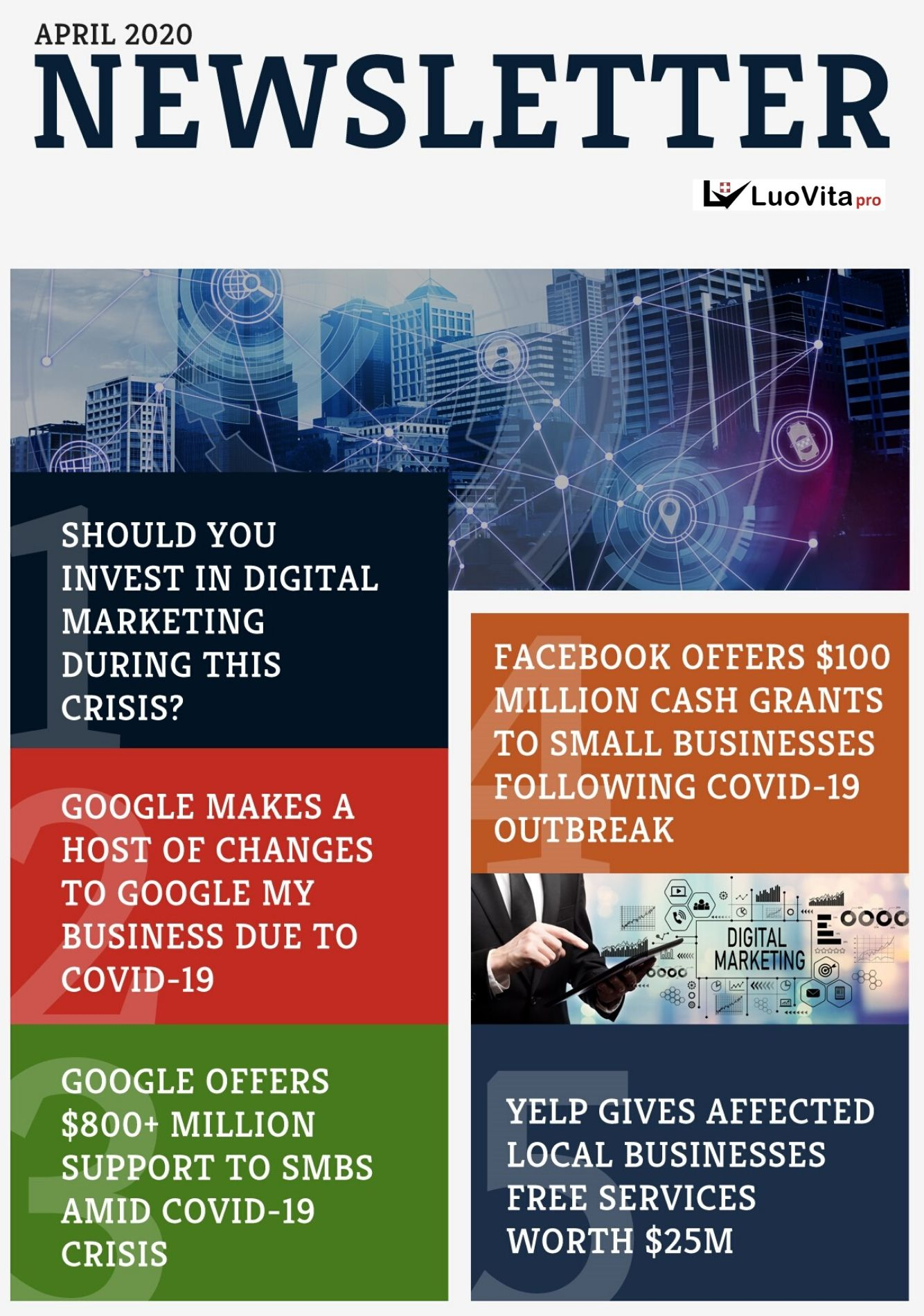 GOOGLE MAKES A HOST OF CHANGES TO GOOGLE MY BUSINESS DUE TO COVID-19 - Newsletter April 2020, SHOULD YOU INVEST IN DIGITAL MARKETING DURING THIS CRISIS?, GOOGLE MAKES A HOST OF CHANGES TO GOOGLE MY BUSINESS DUE TO COVID-19, GOOGLE OFFERS $800+ MILLION SUPPORT TO SMBS AMID COVID-19 CRISIS, FACEBOOK OFFERS $100 MILLION CASH GRANTS TO SMALL BUSINESSES FOLLOWING COVID-19 OUTBREAK, YELP GIVES AFFECTED LOCAL BUSINESSES FREE SERVICES WORTH $25M, coronovirus, 2020 pandemic, novel cornora virus, covid-19m, wuhan corona virus, online marketing articles, online marketing courses, seo meaning, seo definition, how to grow my business online, what is digital marketing, strategies to promote business online, google analytics, best marketing courses, online marketing articles, online marketing courses, online business idea, how to make big money online, how to earn money online, check google rank, how to promote business using google, what is digital marketing, strategies to promote business online, tips to become succecssful entrepreneurs, basic seo, how to get positive reviews for your business, how to make big money online, how to earn money online, check google rank, how to promote business using google, what is digital marketing, strategies to promote business online, tips to become succecssful entrepreneurs, best online marketing course, free online marketing course, free online marketing training, how to market my business in social media,tips to become successful entrepreneurs, pinterest account creation, social media marketing benefits, what is digital marketing, strategies to promote business online, google analytics, how to market my business in social media,tips to become successful entrepreneurs