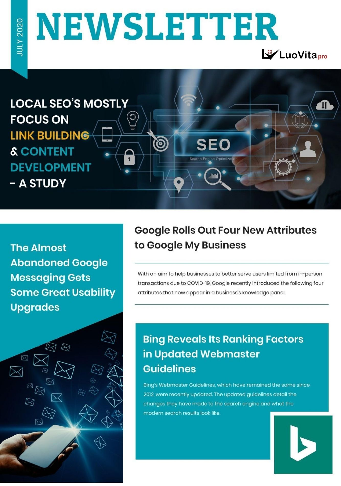 Local seo's mostly focus on link building & content development - a study. –Newsletter July 2020,