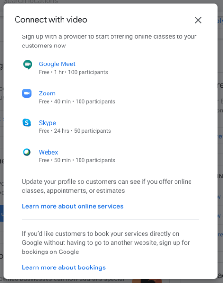 3.2 VIDEO CONFERENCING OPTION NOW AVAILABLE IN GOOGLE MY BUSINESS! Facebook to Impose Limit on Number of Ads – Newsletter October 2020 Facebook to Impose Limit on Number of Ads – Newsletter October 2020