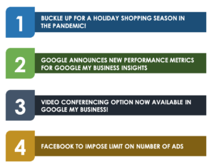 Table of Contents - Facebook to Impose Limit on Number of Ads – Newsletter October 2020